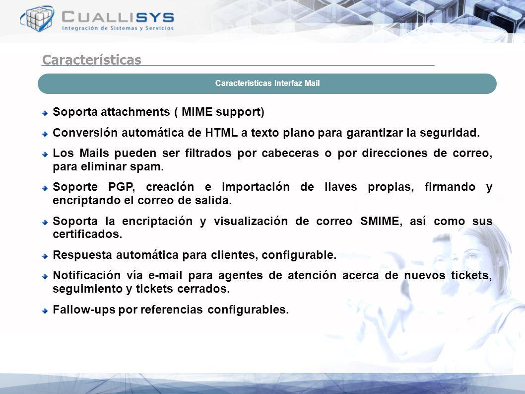 Características Interfaz Mail