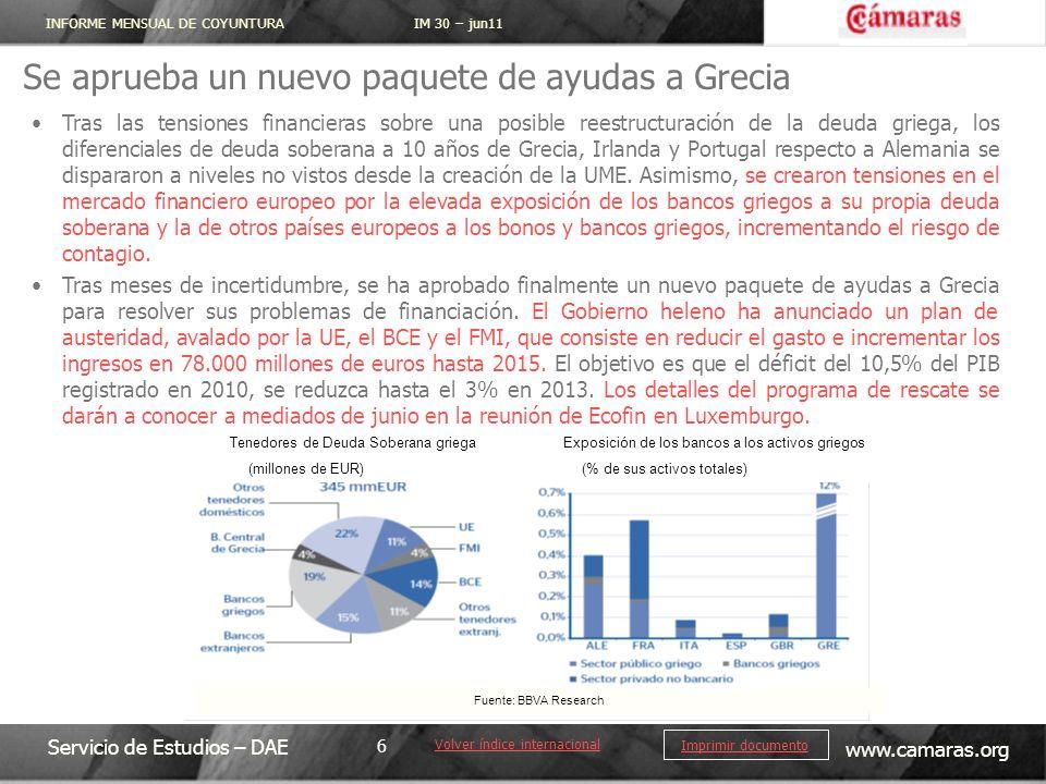Se aprueba un nuevo paquete de ayudas a Grecia