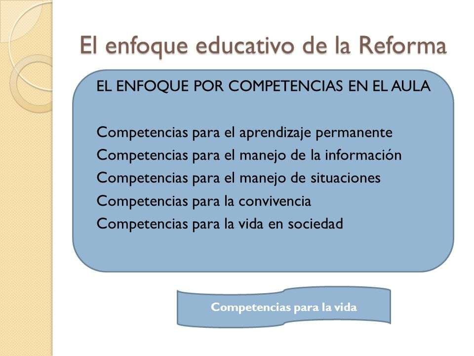 El enfoque educativo de la Reforma