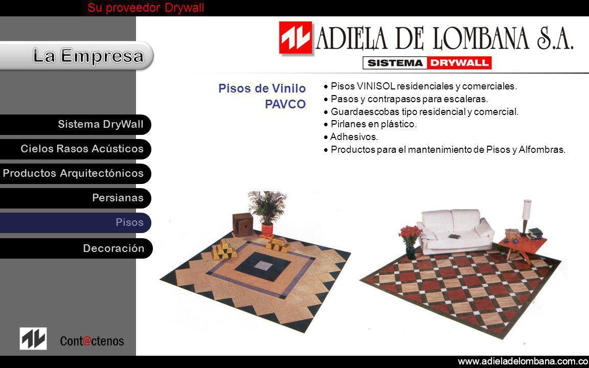 Pisos de Vinilo PAVCO Pisos VINISOL residenciales y comerciales.