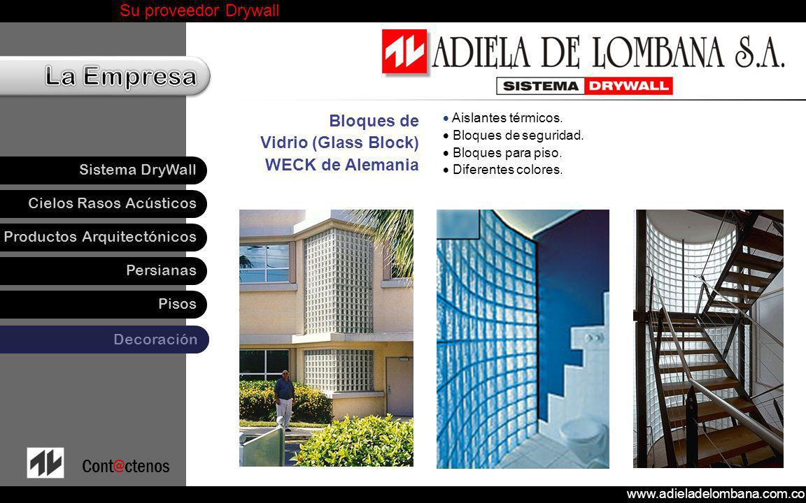 Bloques de Vidrio (Glass Block) WECK de Alemania