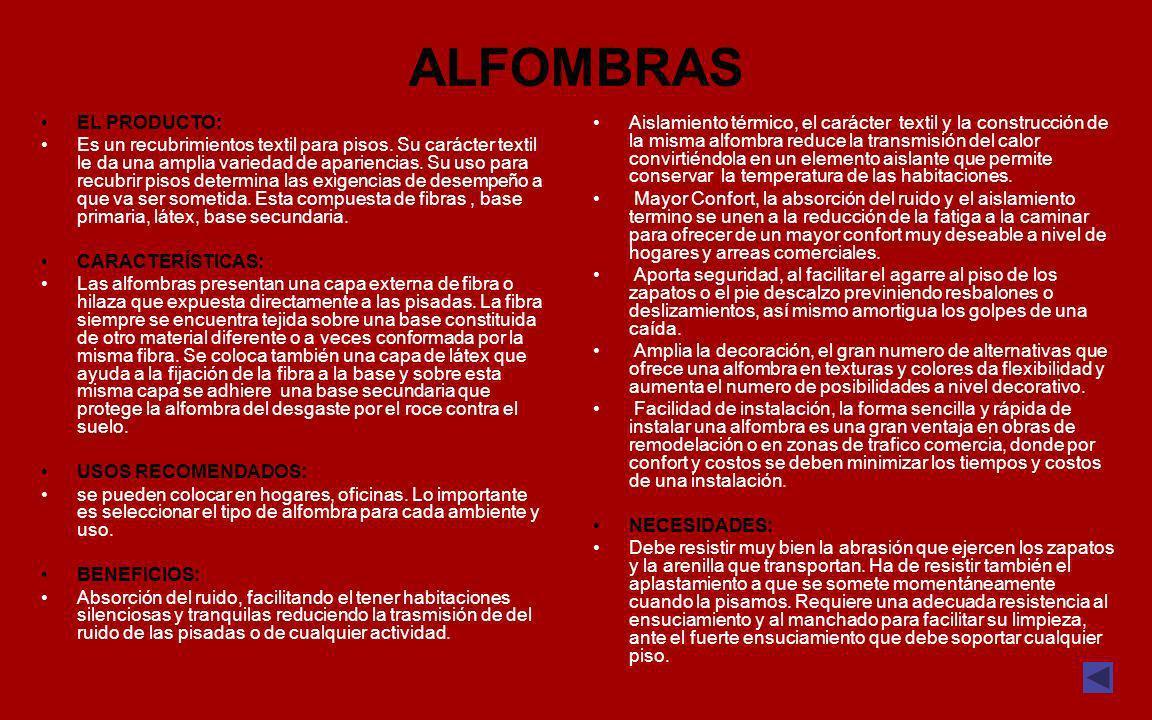 ALFOMBRAS EL PRODUCTO: