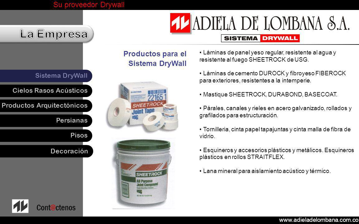 Productos para el Sistema DryWall