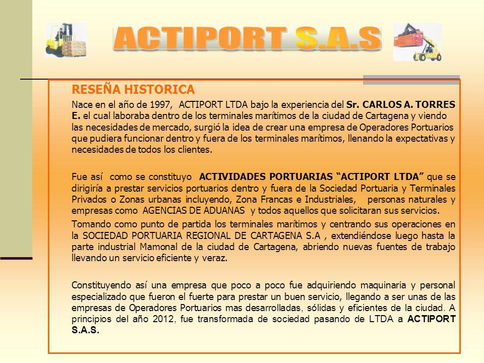 ACTIPORT S.A.S RESEÑA HISTORICA
