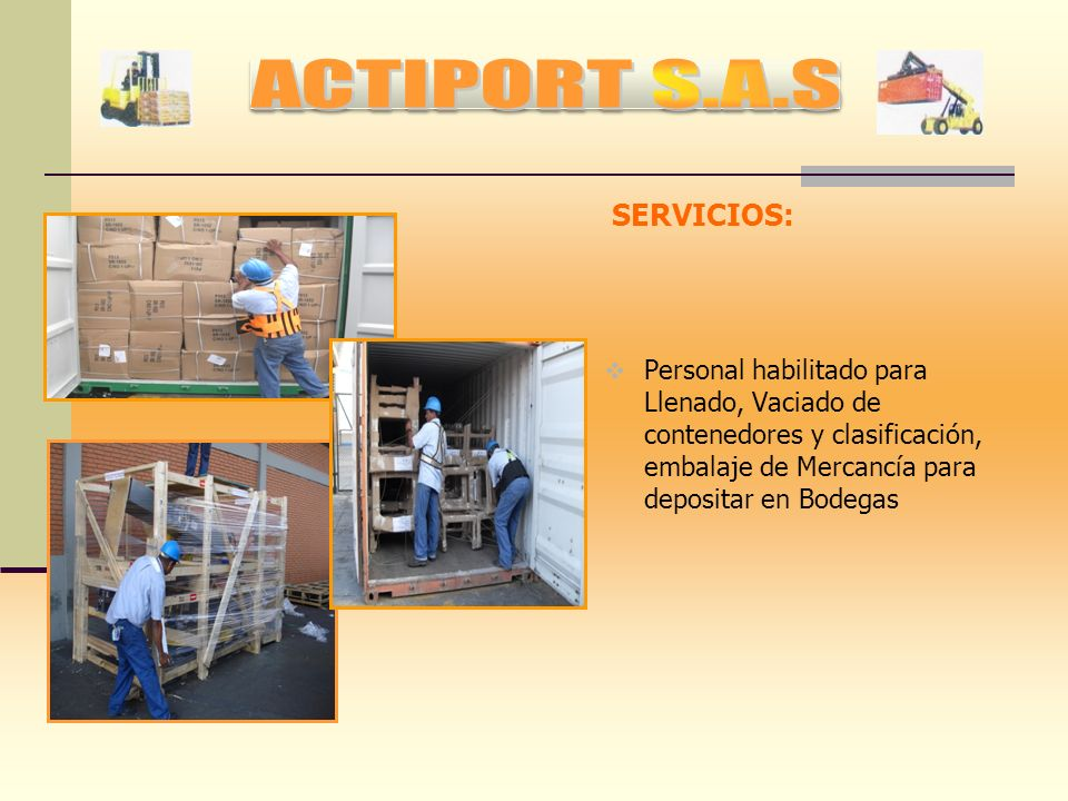 ACTIPORT S.A.S SERVICIOS: