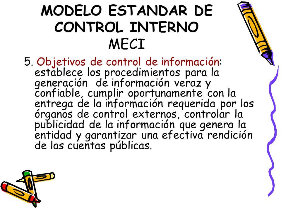 MODELO ESTANDAR DE CONTROL INTERNO MECI