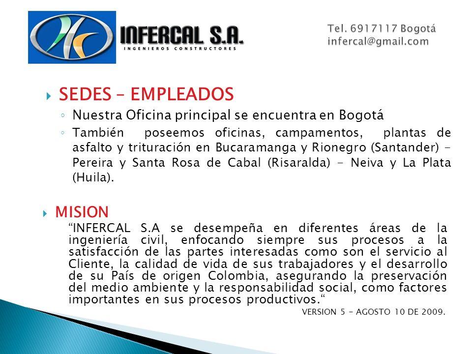 Tel. 6917117 Bogotá infercal@gmail.com