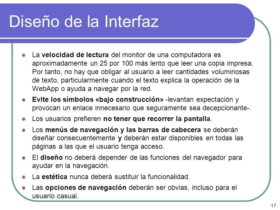Diseño de la Interfaz