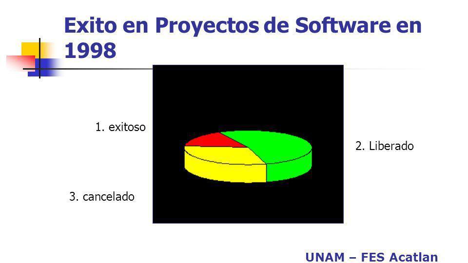 Exito en Proyectos de Software en 1998