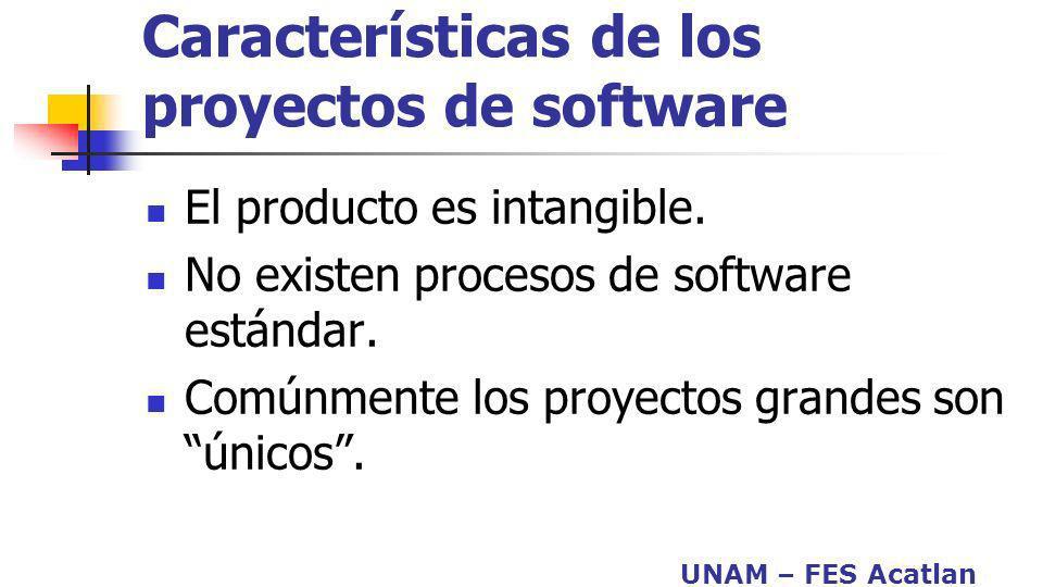 Características de los proyectos de software
