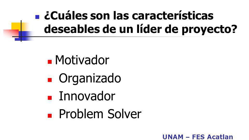 Motivador Organizado Innovador Problem Solver