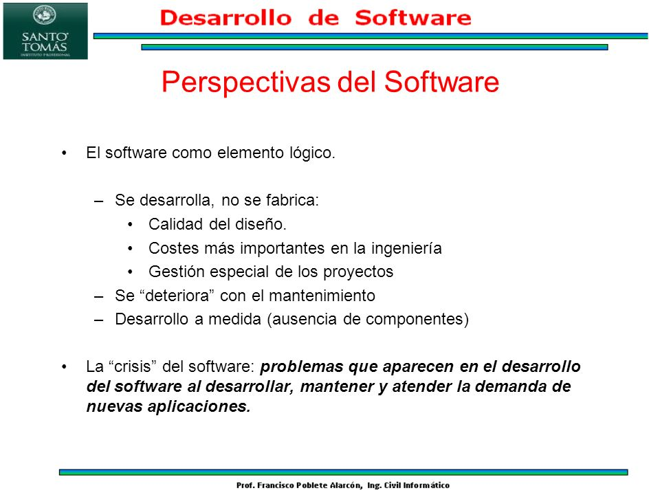Perspectivas del Software