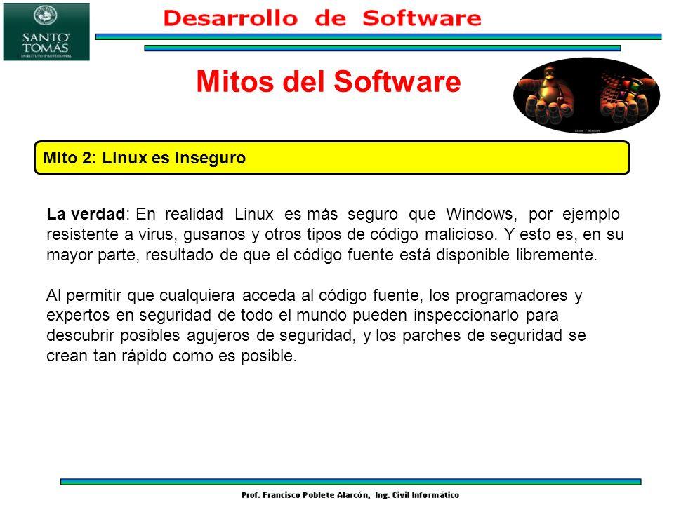 Mitos del Software Mito 2: Linux es inseguro