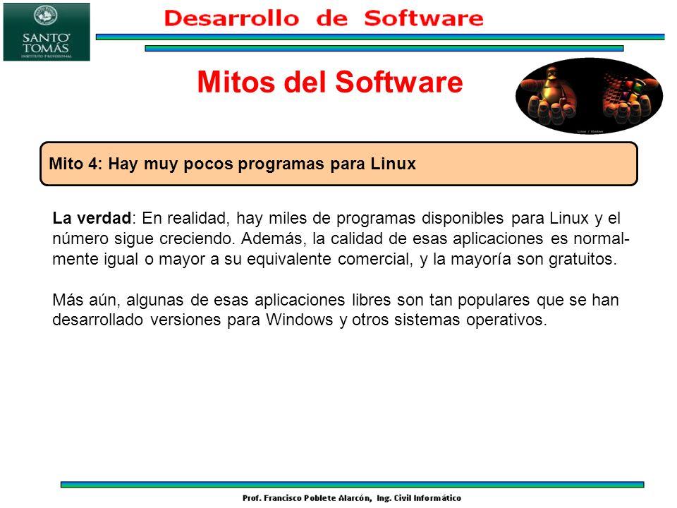 Mitos del Software Mito 4: Hay muy pocos programas para Linux