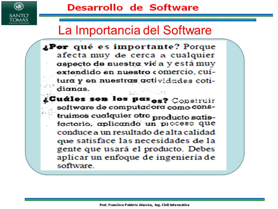 La Importancia del Software