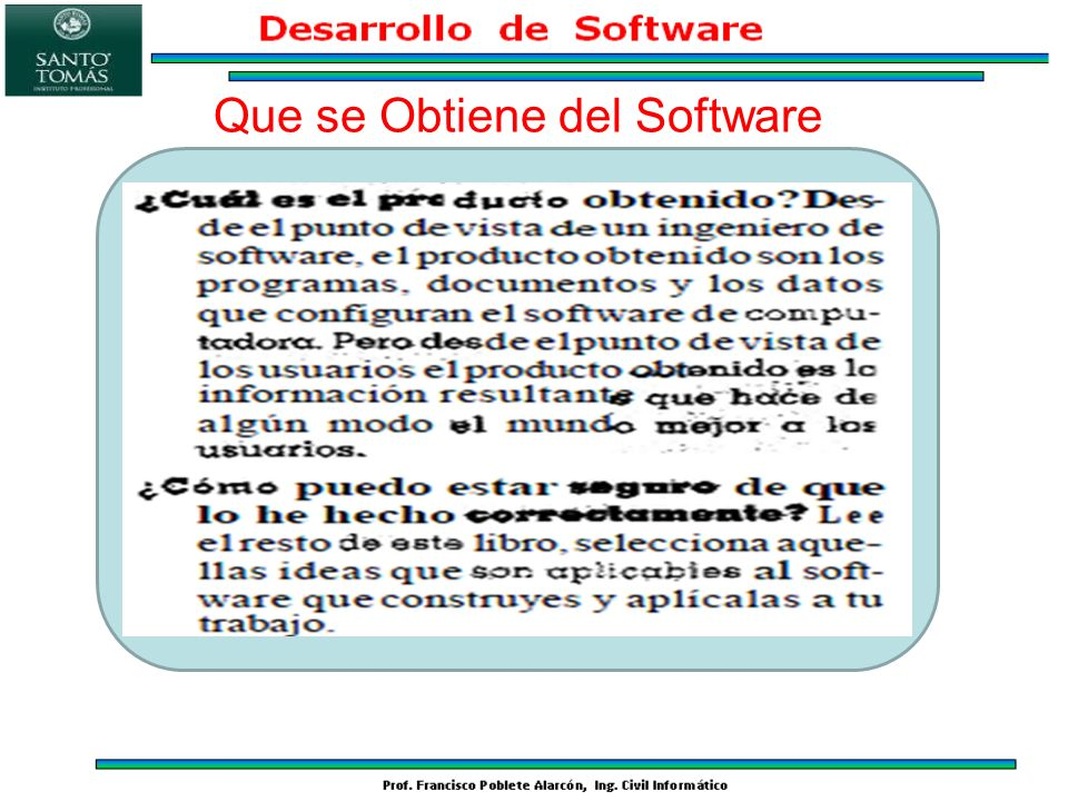 Que se Obtiene del Software
