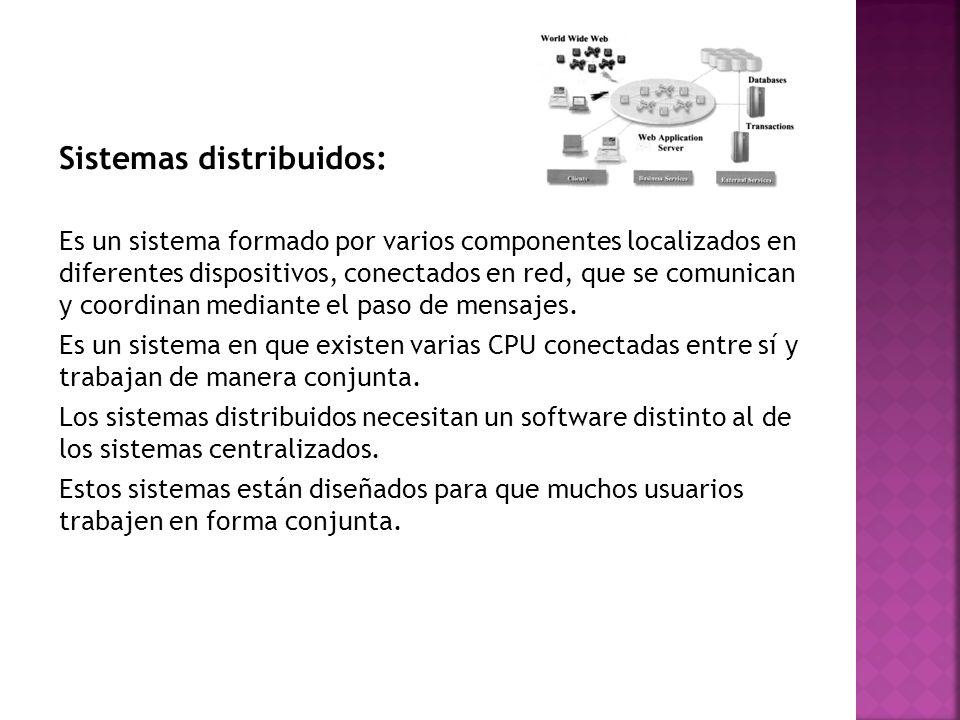 Sistemas distribuidos: