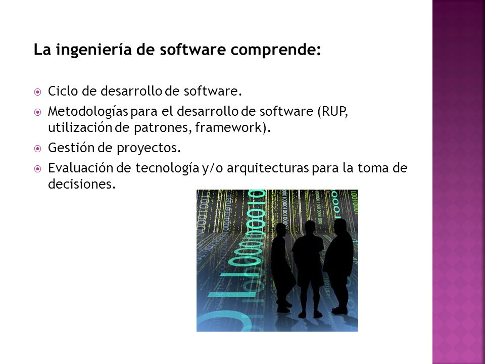 La ingeniería de software comprende: