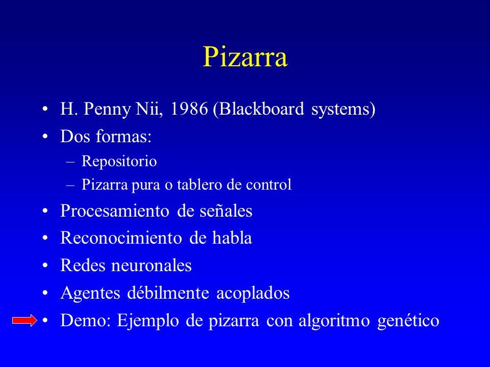Pizarra H. Penny Nii, 1986 (Blackboard systems) Dos formas: