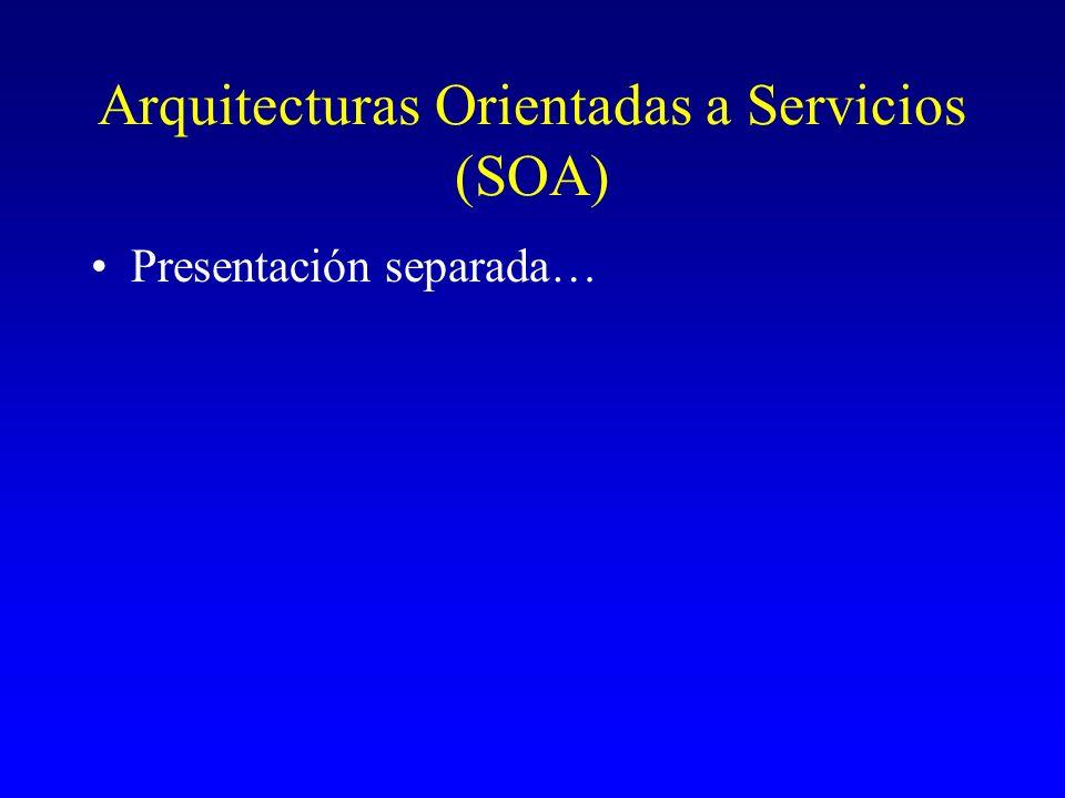 Arquitecturas Orientadas a Servicios (SOA)