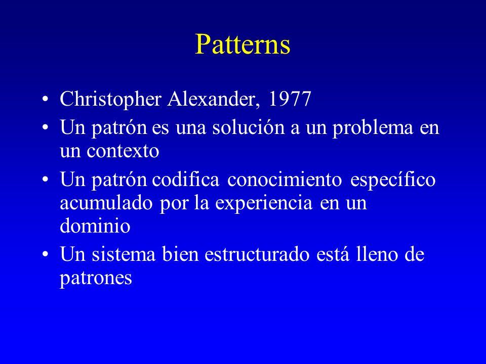 Patterns Christopher Alexander, 1977
