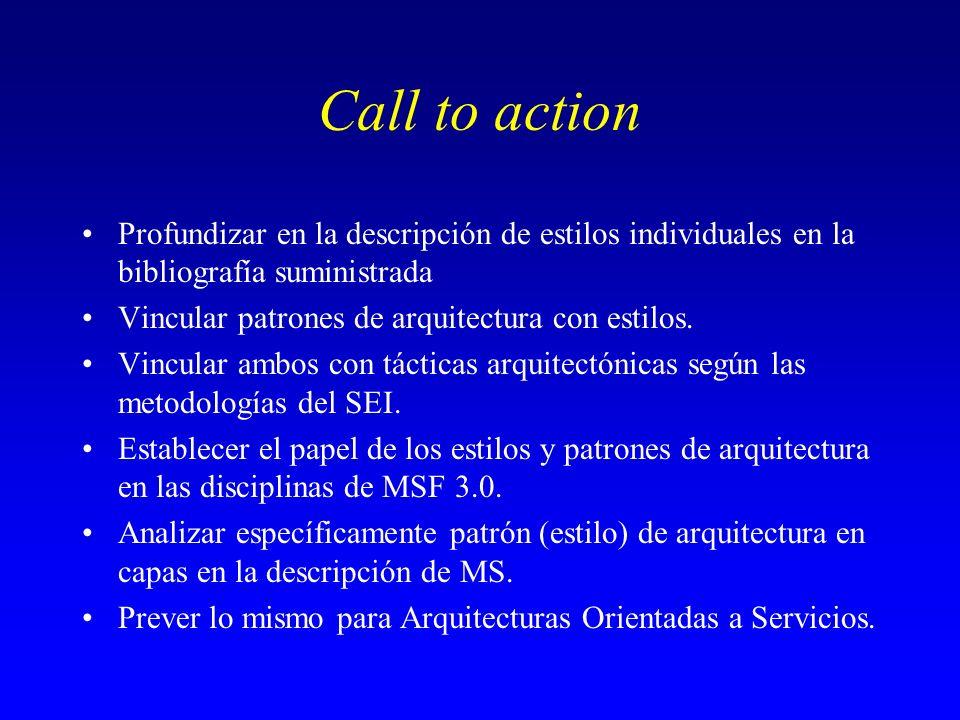 Call to action Profundizar en la descripción de estilos individuales en la bibliografía suministrada.