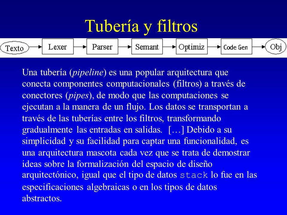 Tubería y filtros