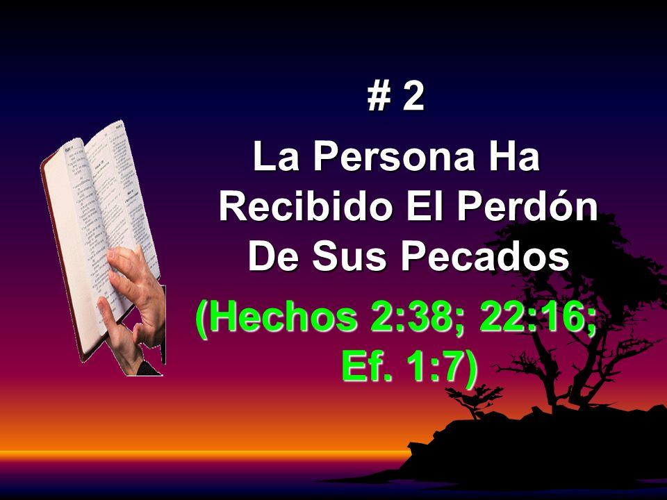 La Persona Ha Recibido El Perdón De Sus Pecados