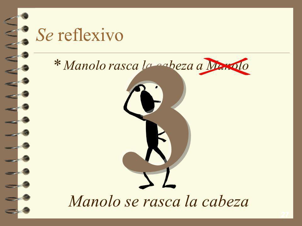 3 Se reflexivo * Manolo se rasca la cabeza