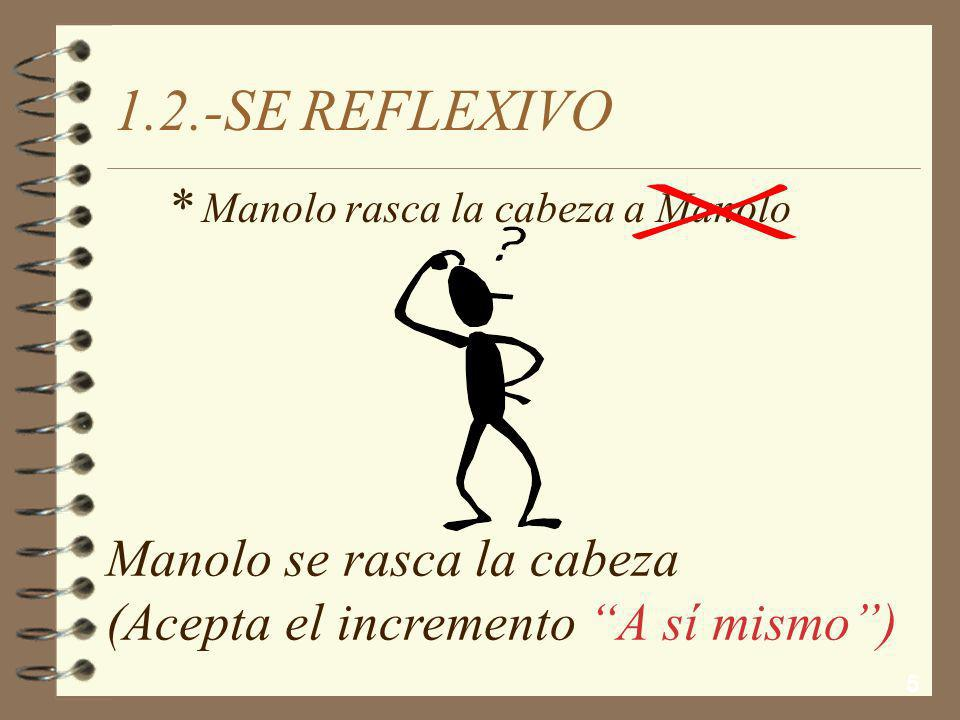 1.2.-SE REFLEXIVO * Manolo se rasca la cabeza