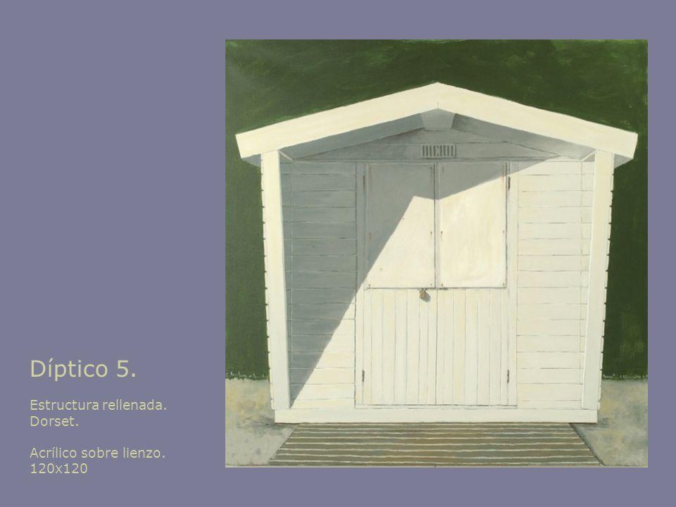 Díptico 5. Estructura rellenada. Dorset. Acrílico sobre lienzo.