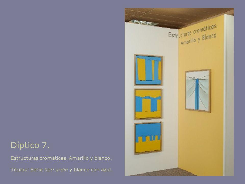 Díptico 7. Estructuras cromáticas. Amarillo y blanco.