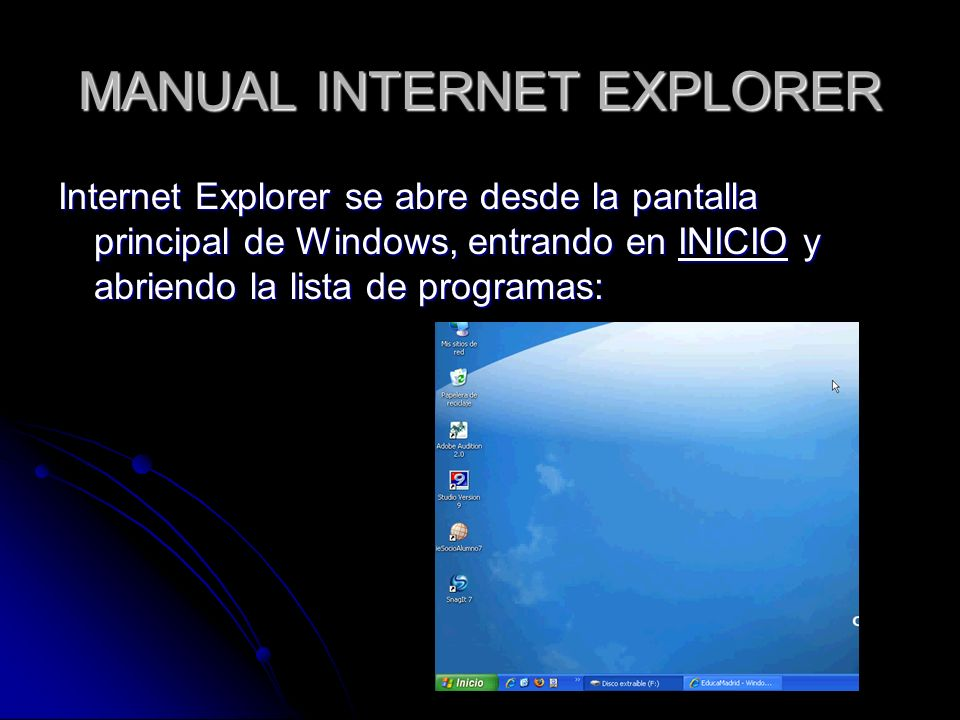 MANUAL INTERNET EXPLORER