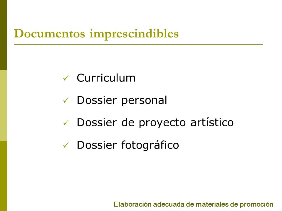Documentos imprescindibles
