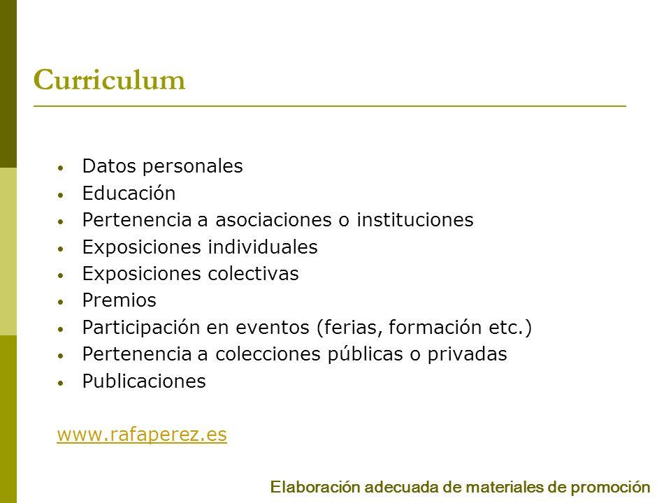 Curriculum Datos personales Educación