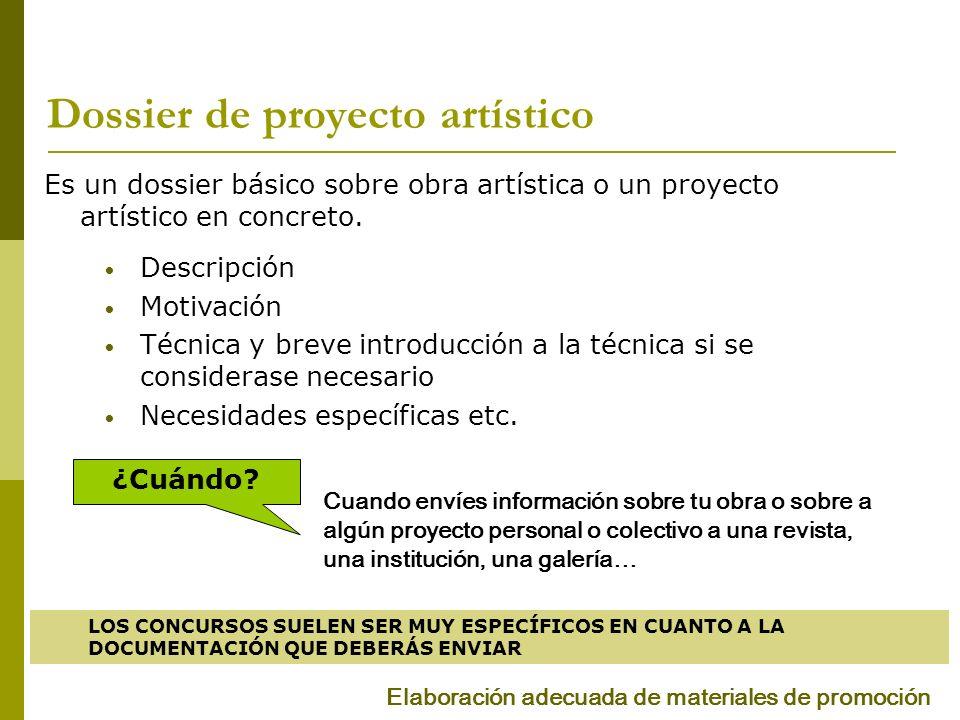 Dossier de proyecto artístico