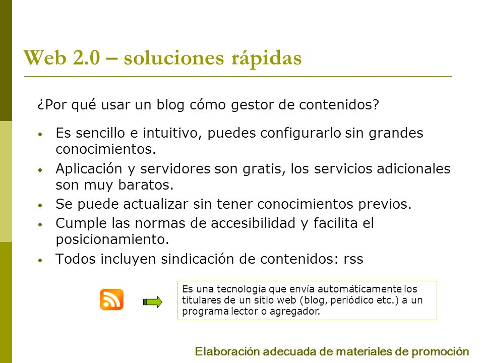 Web 2.0 – soluciones rápidas