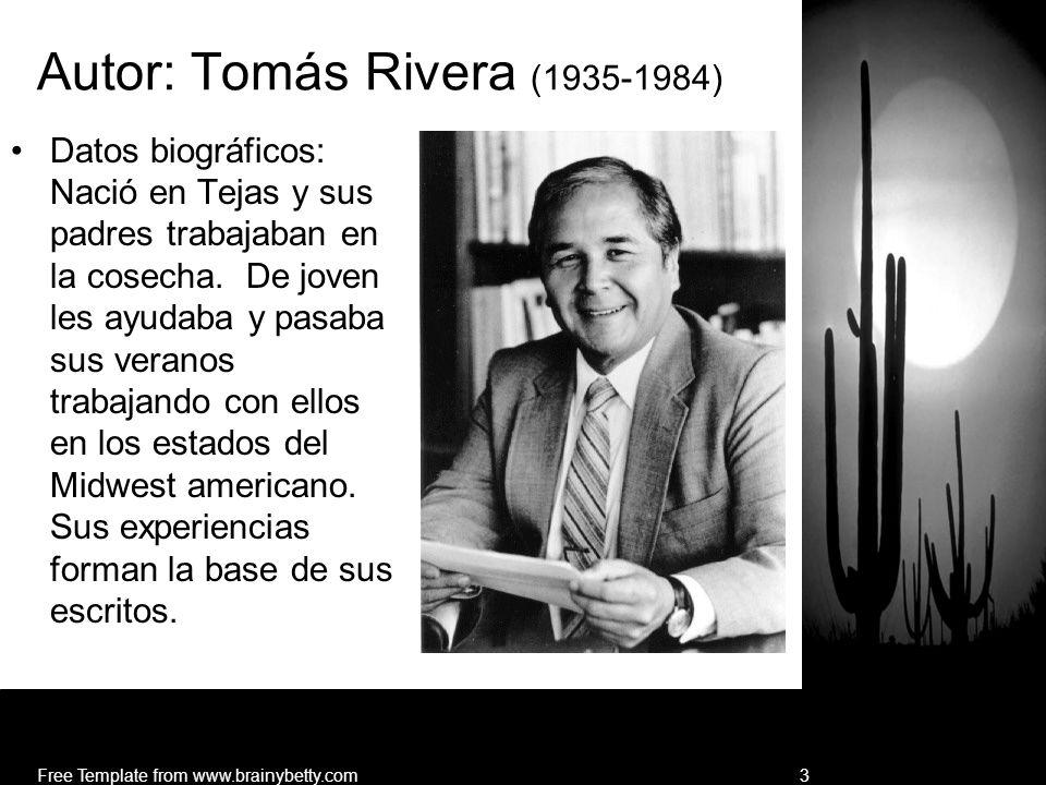 Autor: Tomás Rivera (1935-1984)
