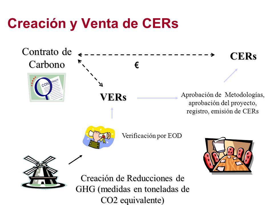 Creación y Venta de CERs