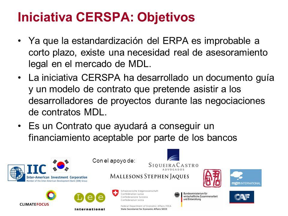 Iniciativa CERSPA: Objetivos