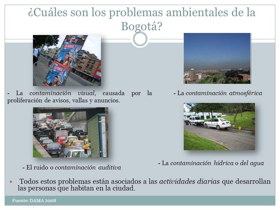 ¿Cuáles son los problemas ambientales de la Bogotá