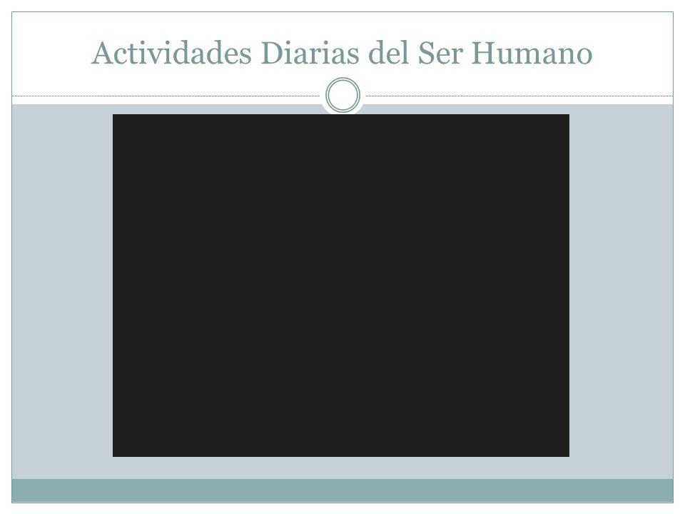 Actividades Diarias del Ser Humano