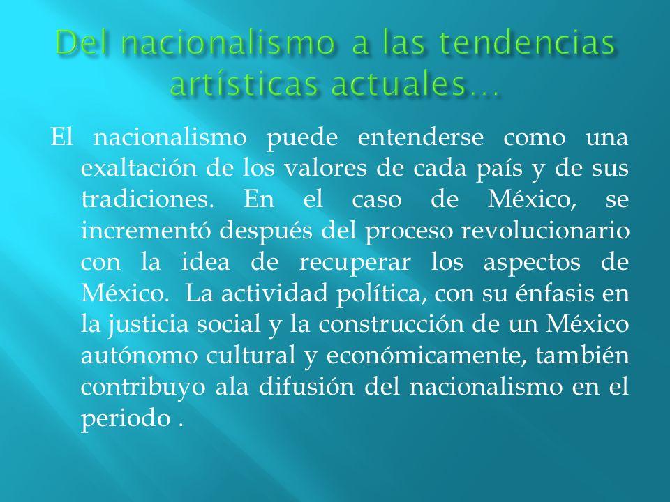 Del nacionalismo a las tendencias artísticas actuales…