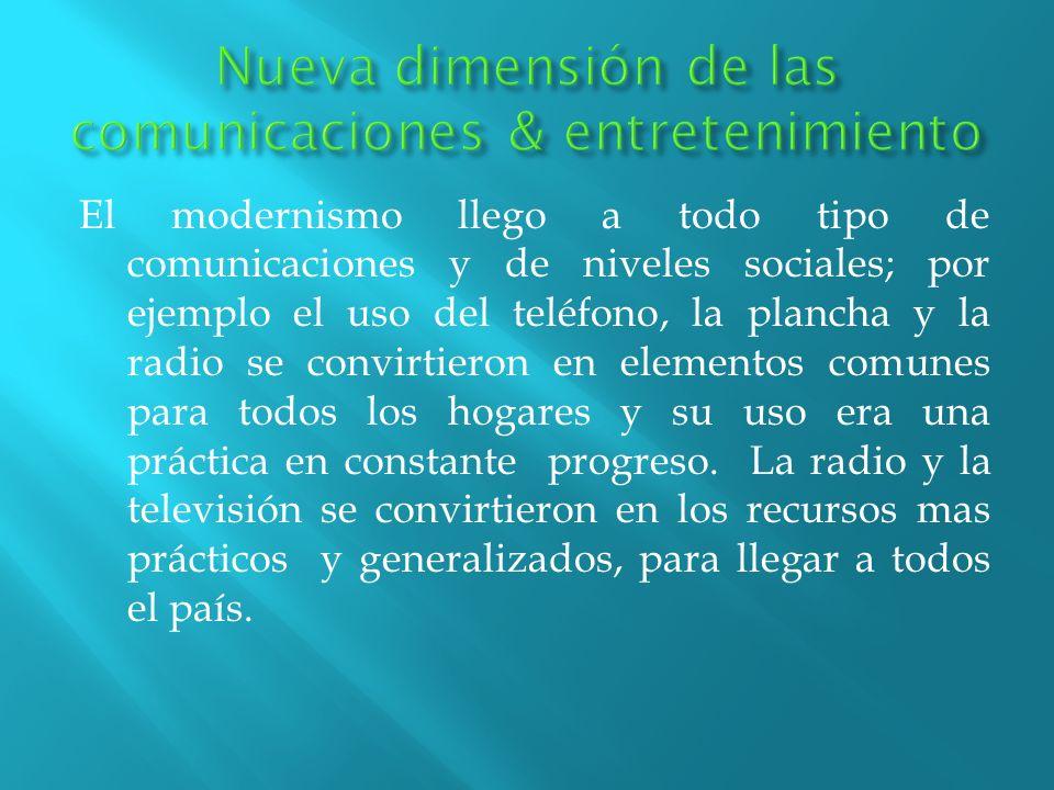 Nueva dimensión de las comunicaciones & entretenimiento