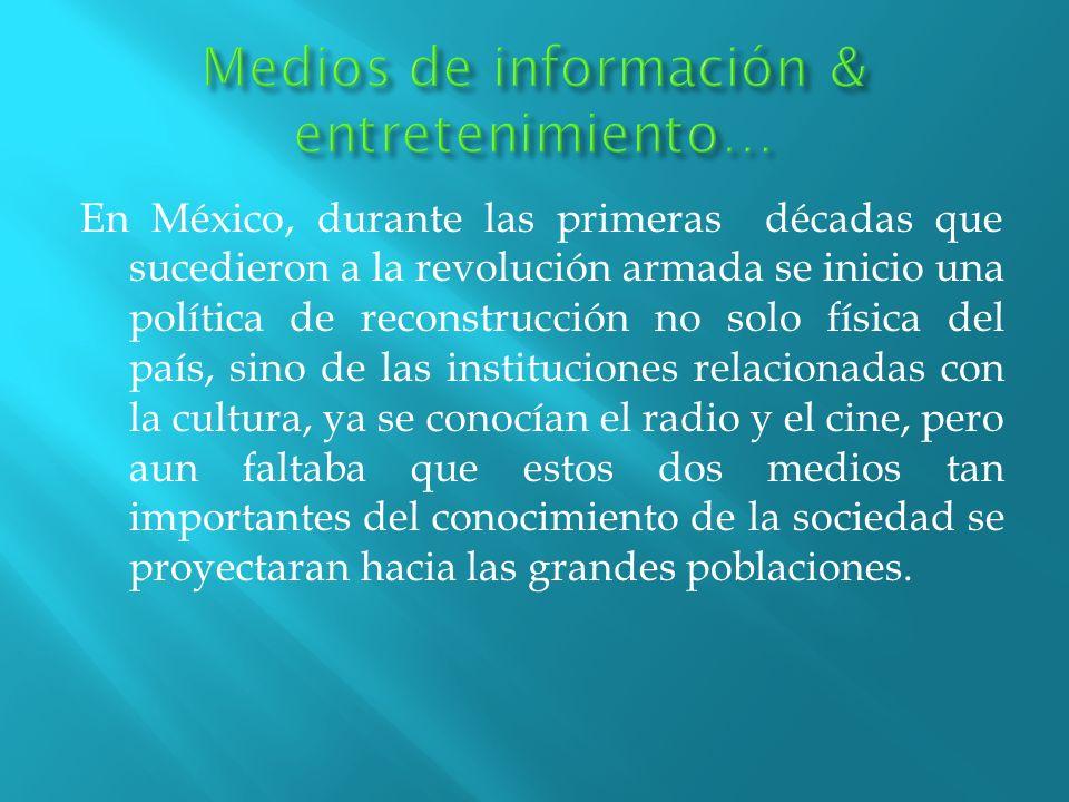 Medios de información & entretenimiento…