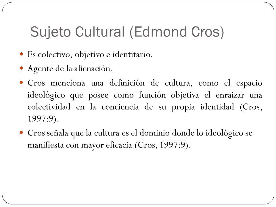 Sujeto Cultural (Edmond Cros)