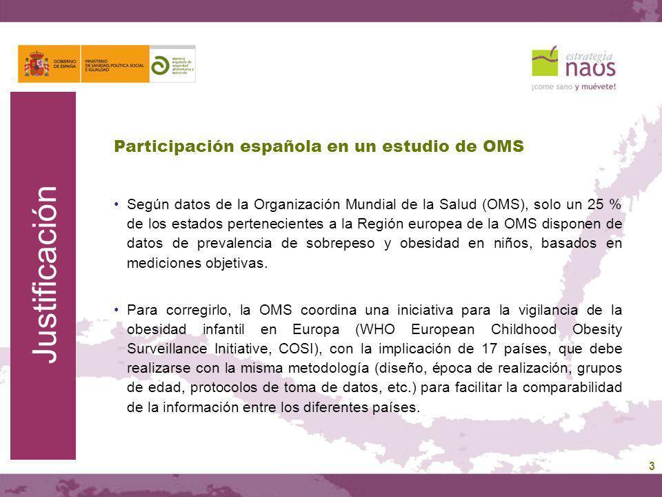 Participación española en un estudio de OMS