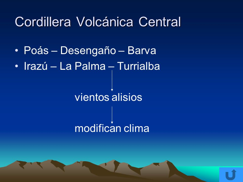 Cordillera Volcánica Central