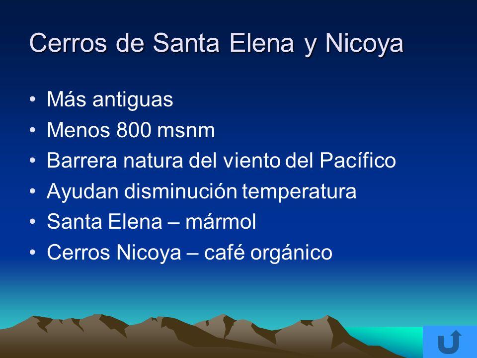 Cerros de Santa Elena y Nicoya