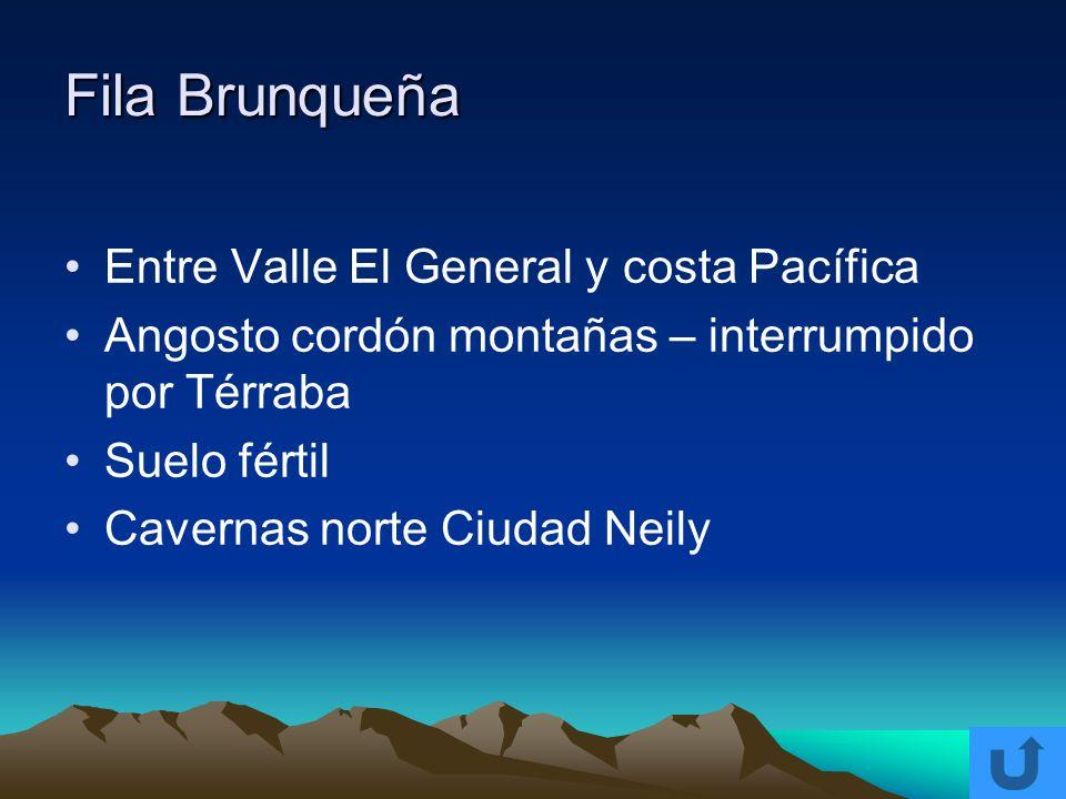 Fila Brunqueña Entre Valle El General y costa Pacífica